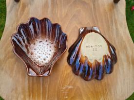 Honiton Brown Ceramic Shells