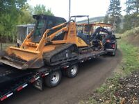 Tracked skidsteer and mini excavator for hire (cache creek area)