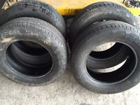 235/65/17 continental 4x4 tyres x4 approx 3-4 mm