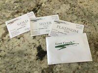 Golf Passes to LOST CREEK