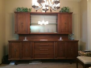 Black Walnut Custom China Cabinet