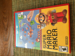 Super Mario maker Nintendo Wii u wiiu complete adult owned