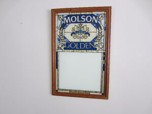 Molsons Golden Ale Stained Glass look Advertisement