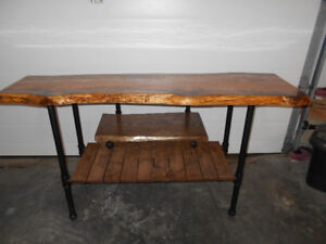 Live Edge TV Stand !!!  REDUCED !!!