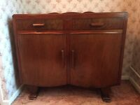 Vintage 1950s mahogany sideboard in excellent condition.