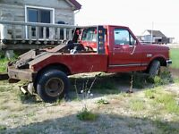 1991 Ford F-350 Pickup Truck  with vulcan tow