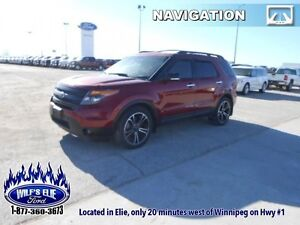 2013 Ford Explorer Sport   - Leather Seats -  Cooled Seats -  Bl