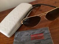 Raybans Aviator Sunglasses w/ Coach case