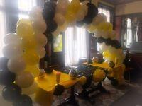 Balloon arch hire Table balloons Balloon decor Helium balloons in London area m