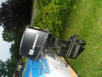 moteur hors bord johnson 55 hp pour piece ou bricoleur