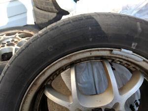 Tires for sale on rims - 205/55r16 5-bolt