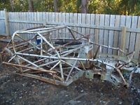 Race car bomber Roll cage rat rod yard art