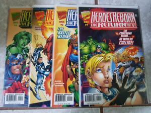 Heroes Reborn: The Return # 1 - 4 complete Set