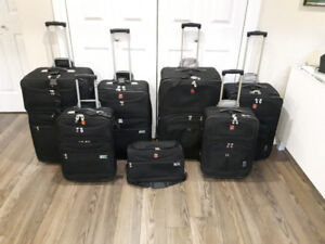 HIS & HERS Swiss Gear 3 piece Softside Luggage & Shoulder Bag