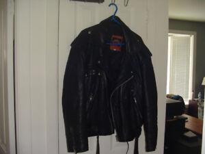 Manteau de cuir pour homme