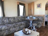 cheap double glazed central heated static caravan on the Ayrshire coast