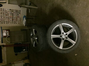 17 inch  Vw wheels with Michelin premier a/s