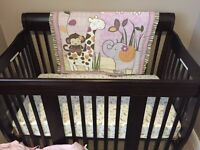 4 in 1 crib and mattress for sale.Practically new 230$ obo