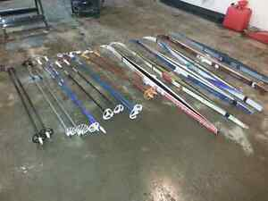 Cross country skis and poles