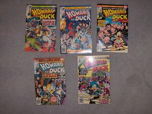 Howard The Duck Comic Books #3,4,5,6 & Annual #1