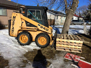 skid steer and trailer combo