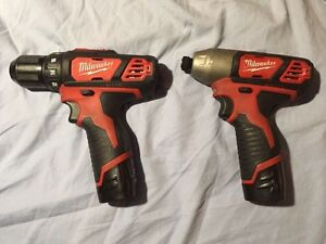 Milwaukee M12 Combo 3/8 drill and 1/4 impact driver