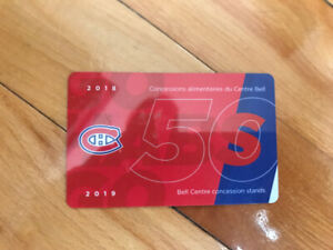 Montreal Canadiens Concession Stands Gift Card