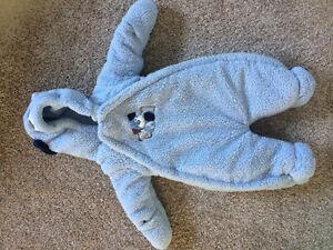 Blue fleece snowsuit