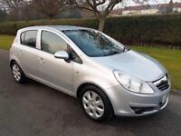 VAUXHALL CORSA 1.2i 16v (A/C) CLUB - 5 DOOR - 2008 - SLIVER **LOW MILES**