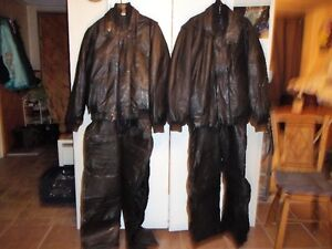2 Leather skidoo suit