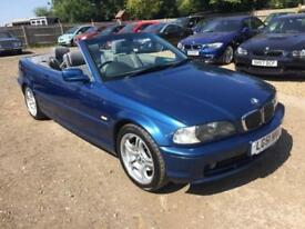 2001 BMW 3 Series 2.5 325Ci Convertible 2dr Petrol Manual (235 g/km, 192