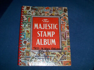 THE MAJESTIC STAMP ALBUM-1967/68 EDITION-OVER 200 STAMPS-VINTAGE