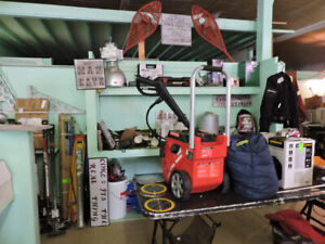 huge garage INDOOR yard sale tools toys antiques jewelry fishing