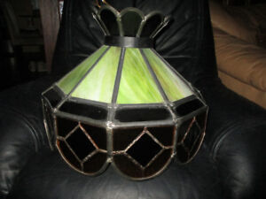 Tiffany Style Real stained Glass Hanging Lamp