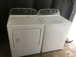 whirlpool white top load washer electric dryer 400