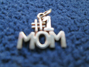 "10 kt Yellow Gold Charm/Pendant ""#1 Mom"""