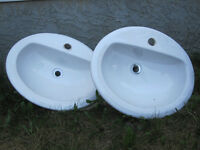 Great Condition! 2 Drop-In WESTERN Ceramic Sinks