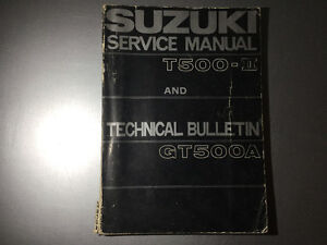 1969 Suzuki T500 Mark II Titan OEM Service Manual 1976 GT500A