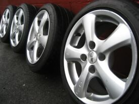 "15"" alloy wheels with tyres."