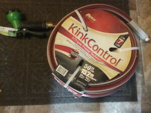 50 ft kink control Garden hose and nozzle never used $30