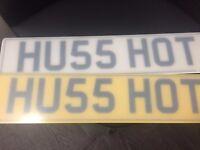 HU55 HOT Car Registration Number Plate For Cars BMW Audi Mercedes Golf
