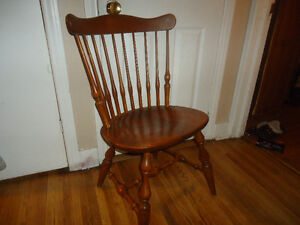 vintage ethan allen solid wood chair