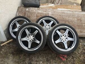 18 inch Enkei Evo 5 rims with tires