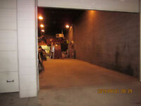 LARGE HEATED INDOOR PARKING SPOT/SHOP SPACE