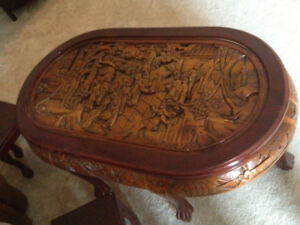 vintage asian 3d coffee table $350