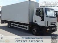 2012 61 IVECO EUROCARGO 140E22S 23FT BOX WITH TAIL LIFT