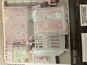 Pink Lamb & Ivy 6piece baby bedding set