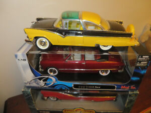 3---Ford Diecast Cars--1949-1955-1956--1:18 scale-Reduced