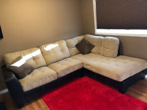 Suede sectional for sale!!