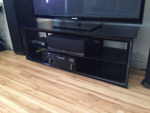 """60"""" Plus Metal and Glass TV Stand"""